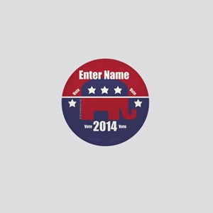 Customizable With Your Candidates Name Mini Button