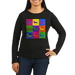 Dachshund Pop Art Long Sleeve T-Shirt