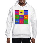 Dachshund Pop Art Hoodie Hooded Sweatshirt