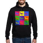 Dachshund Pop Art Hoodie (dark)