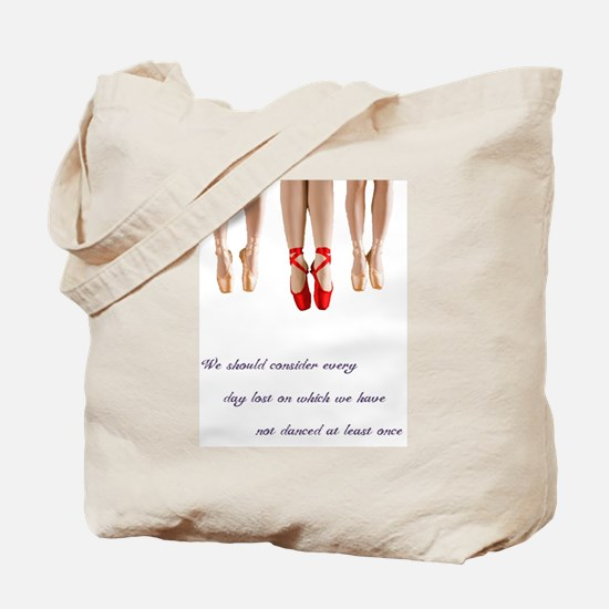 Pointe Dance Quote Tote Bag