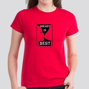 Breast is Best Women's Dark T-Shirt