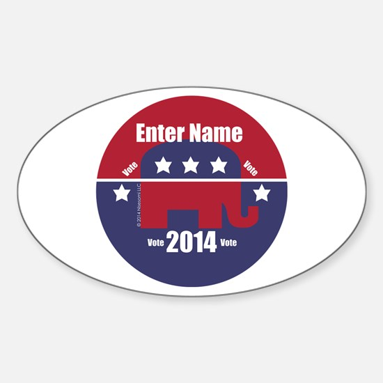 Customizable With Your Candidates Name Decal