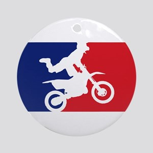Major League Motocross Ornament (Round)