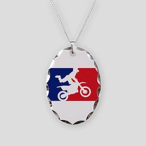 Major League Motocross Necklace Oval Charm