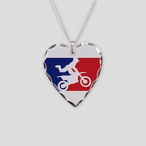 Major League Motocross Necklace Heart Charm