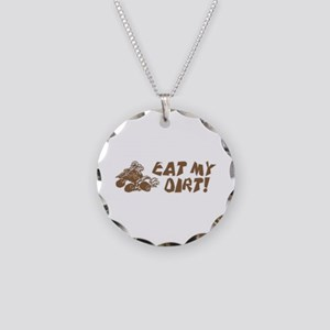 ATV Eat My Dirt Necklace Circle Charm