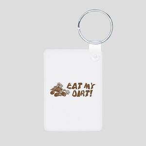 ATV Eat My Dirt Aluminum Photo Keychain