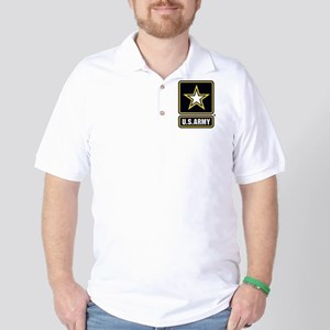 US Army Gold Star Logo Golf Shirt