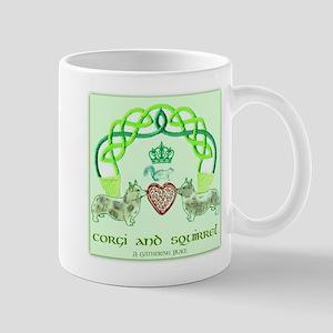 Corgi & Squirrel Claddagh Mugs