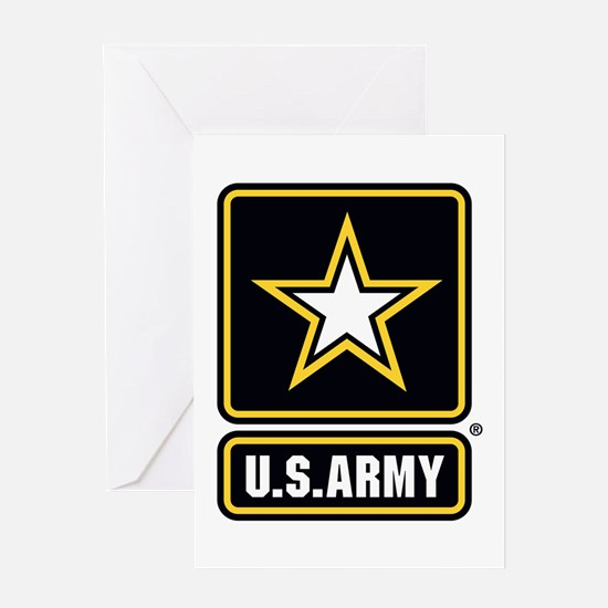 US Army Gold Star Logo Greeting Cards