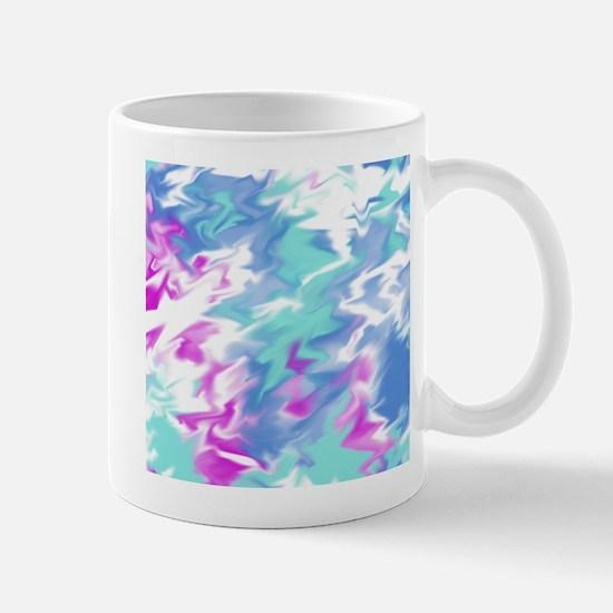 Raspberry Aqua Smear Mugs