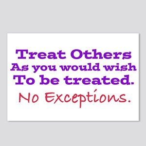 No Exceptions large type Postcards (Package of 8)