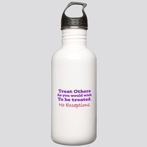 No Exceptions large type Water Bottle