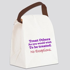 No Exceptions large type Canvas Lunch Bag