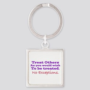 No Exceptions large type Keychains
