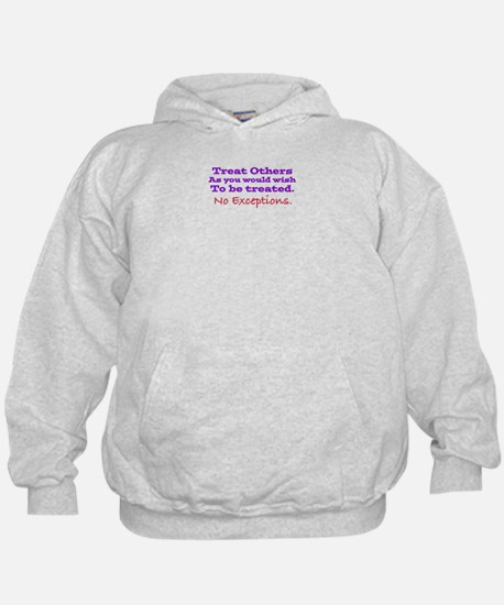 No Exceptions large type Hoodie