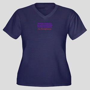 No Exceptions large type Plus Size T-Shirt