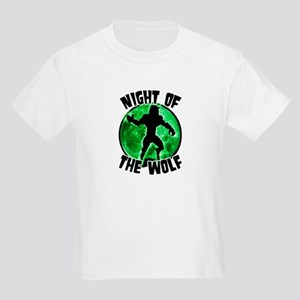Night of the Wolf Green Kids Light T-Shirt