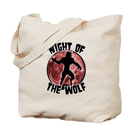 Night of the Wolf Red Tote Bag
