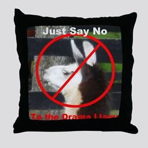 No Drama Llama Throw Pillow