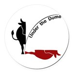 Under the Dome Cow Round Car Magnet