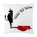 Under the Dome Cow Woven Throw Pillow
