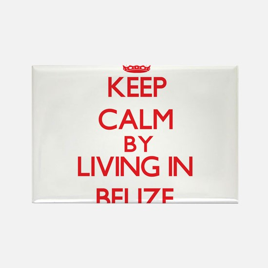 Keep Calm by living in Belize Magnets