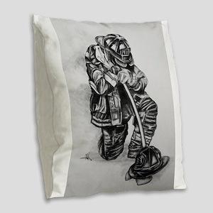 fallen Burlap Throw Pillow
