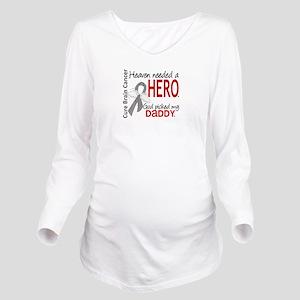Brain Cancer Heaven Long Sleeve Maternity T-Shirt