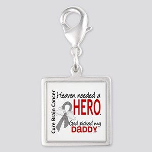 Brain Cancer Heaven Needed He Silver Square Charm