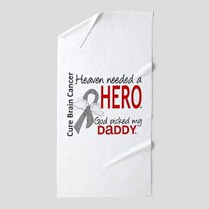Brain Cancer Heaven Needed Hero 1.1 Beach Towel