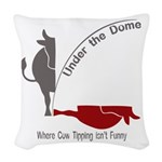 Under the Dome Cow Tipping Woven Throw Pillow