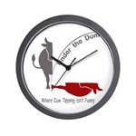 Under the Dome Cow Tipping Wall Clock