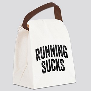 Running Sucks Canvas Lunch Bag
