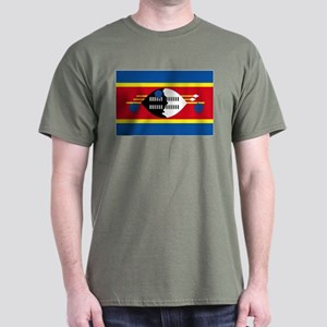 Swaziland flag Dark T-Shirt