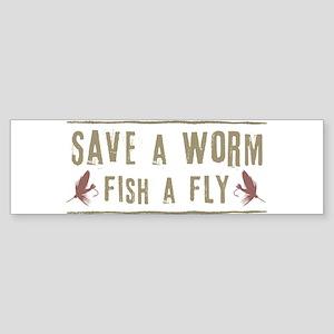 SaveAWorm1 Bumper Sticker