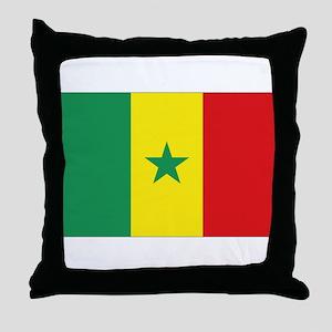 Flag Senegal Throw Pillow