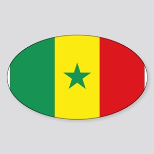 Flag Senegal Oval Sticker