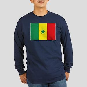 Flag Senegal Long Sleeve Dark T-Shirt