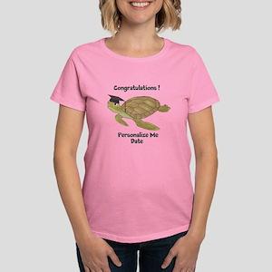 Personalized Sea Turtles Women's Dark T-Shirt
