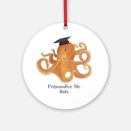 Graduation Octopus Ornament (Round)