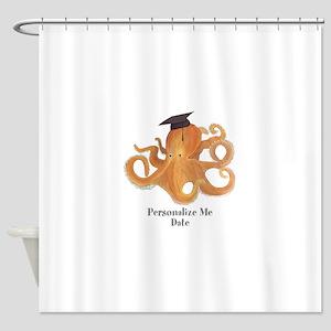 Graduation Octopus Shower Curtain