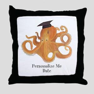 Graduation Octopus Throw Pillow