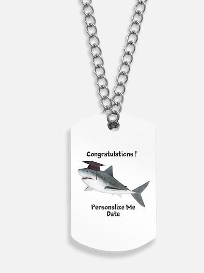 Graduation Shark Dog Tags