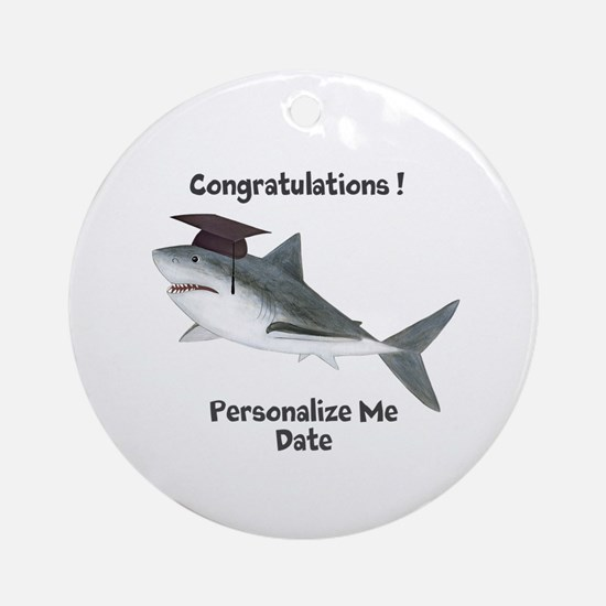 Graduation Shark Ornament (Round)