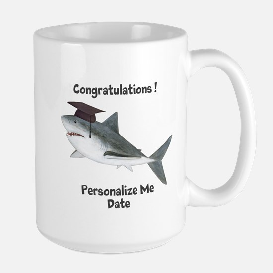 Graduation Shark Large Mug
