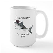 Graduation Shark Large Mug