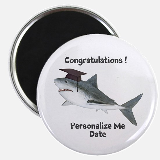 Graduation Shark Magnet