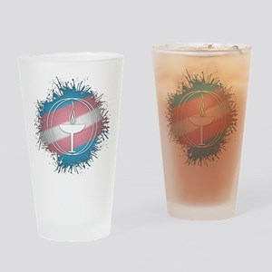 Transgender Pride Unitarian Univers Drinking Glass